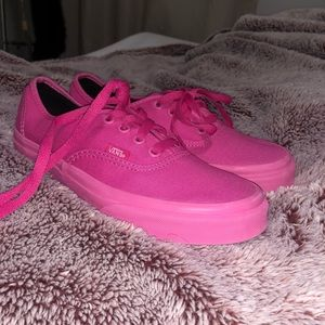Vans authentic low top pink shoes women's 7/ 5.5